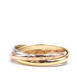 Tricolor 18k 750  Size 52 5.5 Ring